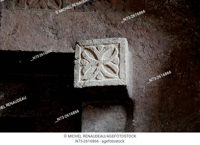 Ethiopia, Amhara region, the holy city of Lalibela, the northern cave church
