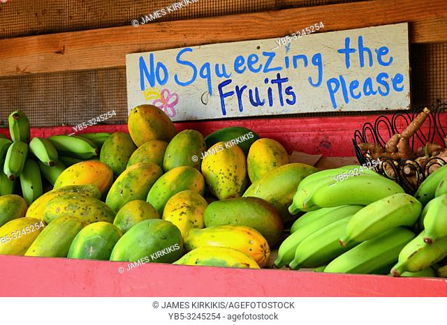A polite request for those shopping for fresh fruit