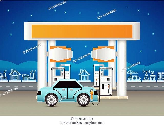 Cities service refinery Stock Photos and Images | age fotostock