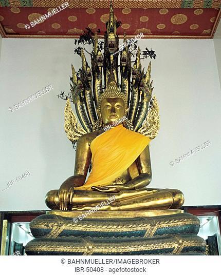 Bangkok Thailand Wat Pho temple built from 1789 sculpture of Buddha