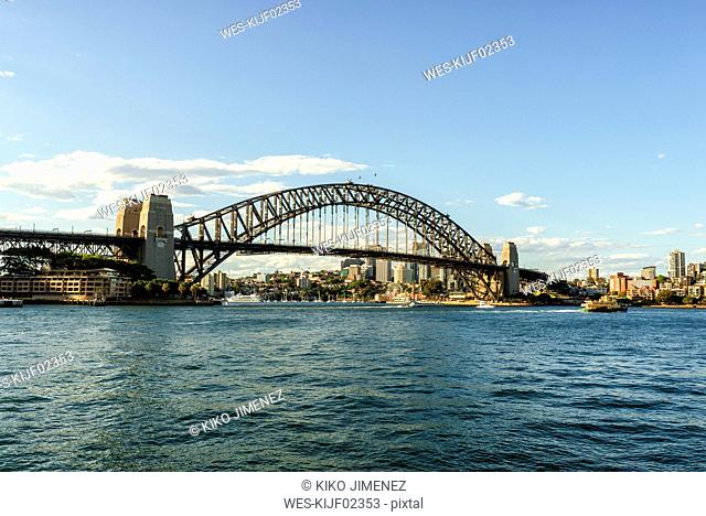Australia, New South Wales, Sydney, landscape with the Sydney bridge