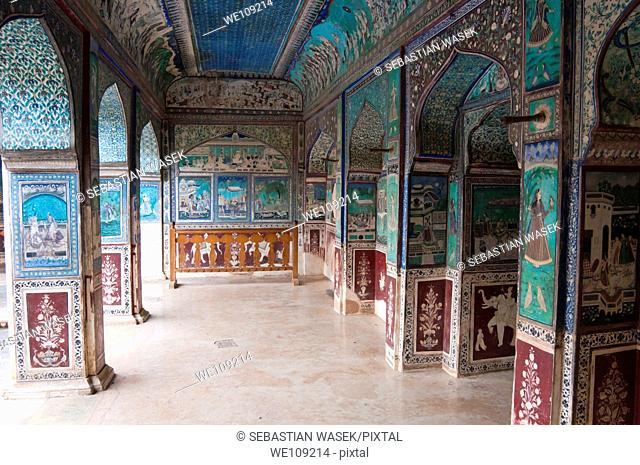 Bundi Palace, Bundi, Rajasthan state, India, Asia