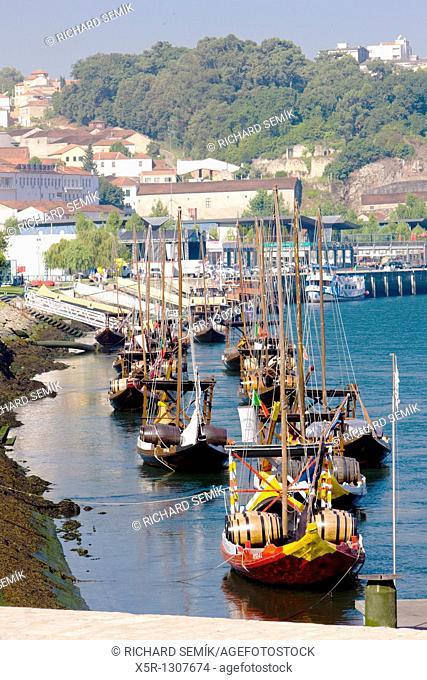 Rabelos (typical boats). Vila Nova de Gaia, Porto District, Portugal