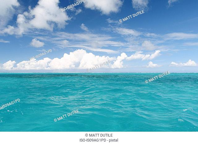 Blue sea and sky, Providenciales, Turks and Caicos Islands, Caribbean
