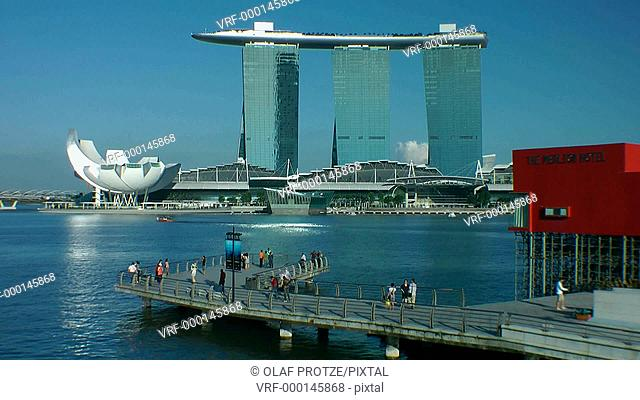 Marina Bay Sands Hotel and Casino, the newest landmark in downtown Singapore