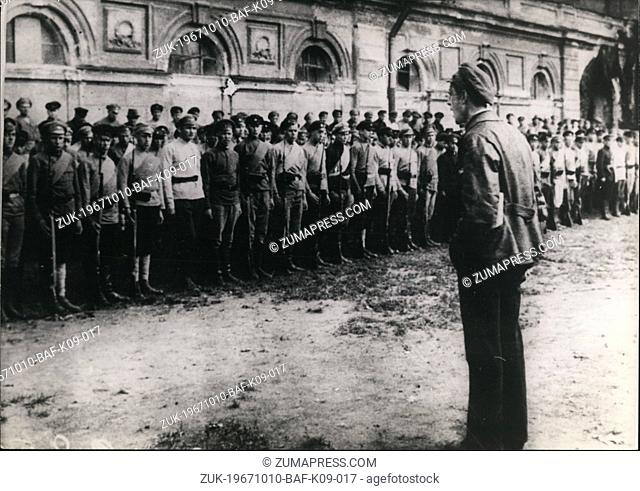 Oct. 10, 1967 - The caption details the 20th Anniversary celebration of the October Rebellion in Russia, led by the Reds when they attached the Winter Palace in...