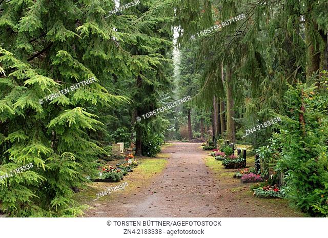 Main cemetery of Chemnitz in Saxony, Germany