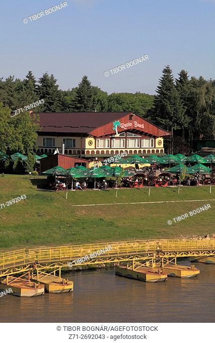 Romania, Crisana, Arad, Mures River, Neptun leisure complex,