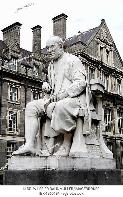 George Salmon, 1819 - 1904, Irish theologian and mathematician, Trinity College, Dublin, Republic of Ireland, Europe, PublicGround