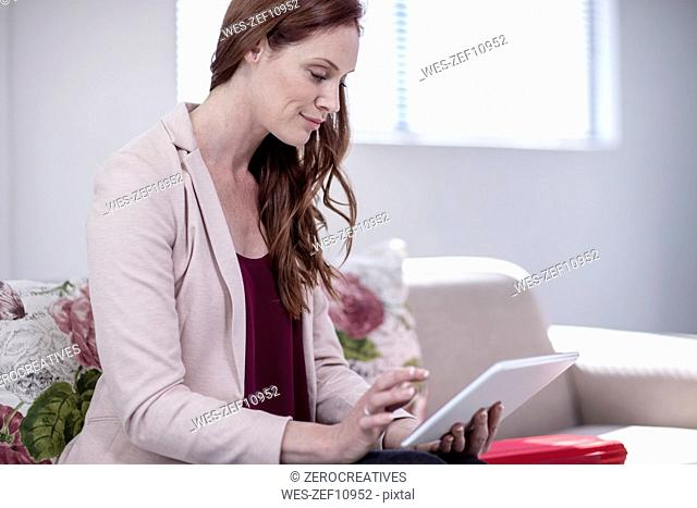 Successful businesswoman working in office
