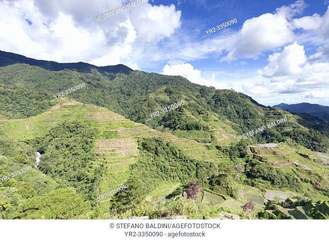View of the rice terraces as seen from the Banaue viewpoint, Banaue, Philippines