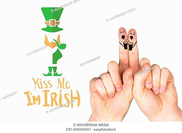 Composite image of patricks day fingers