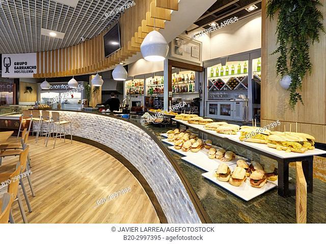 Bar with pintxos, Restaurante Bar Virginia Mendibil Menus & Fast Good, Mall, Centro Comercial Mendibil, Irun, Gipuzkoa, Basque Country, Spain