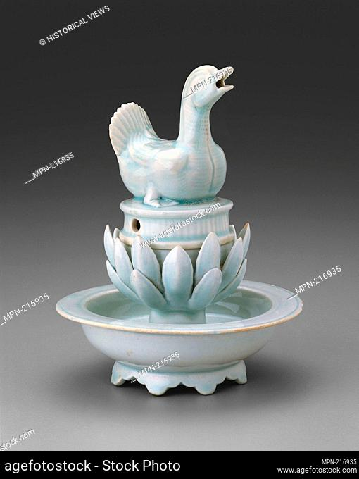 Incense Burner in the Form of a Duck - Song dynasty (960-1279), 12th century - China - Origin: China, Date: 1100-1200, Medium: Qingbai ware; porcelain with...