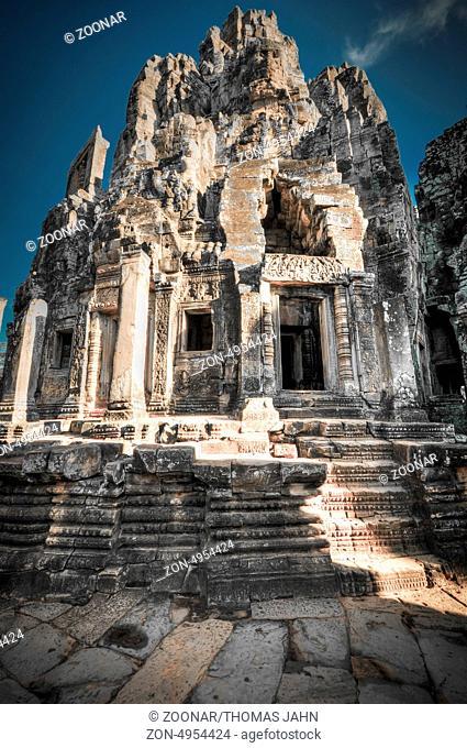 Bayon temple inside Angkor Thom complex Cambodia