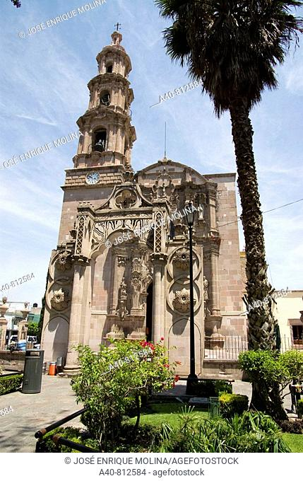 Mexico.Aguascalientes.Square and Church of the Lord of Encino