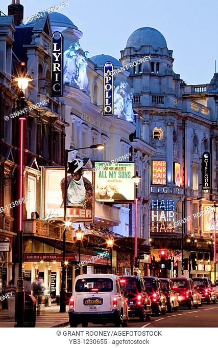 'Theatreland', Shaftesbury Avenue, London, England