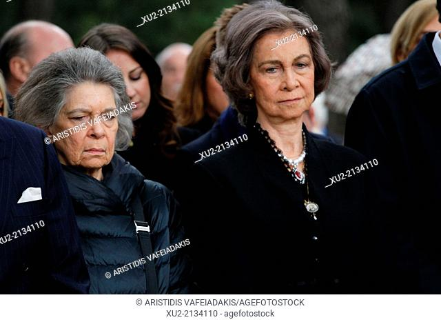 On the occasion of the 50th anniversary of King Paul's death his children, King Constantine II of Greece, Queen Anna-Maria