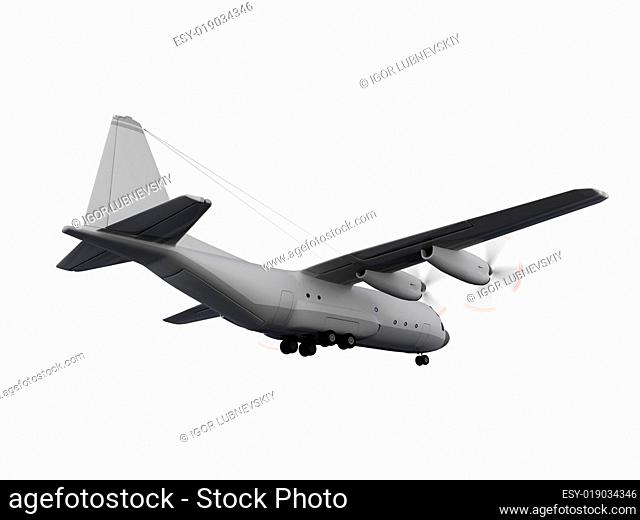 military aircraft isolated view