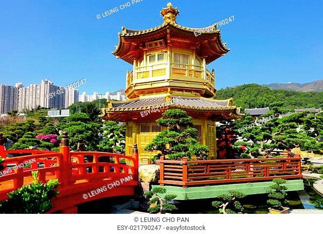 Chinese garden pavilion