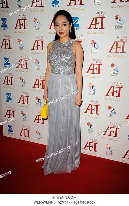 Arts for India Golden Gala - Arrivals Featuring: Kunjue Li Where: London, United Kingdom When: 31 May 2017 Credit: WENN.com