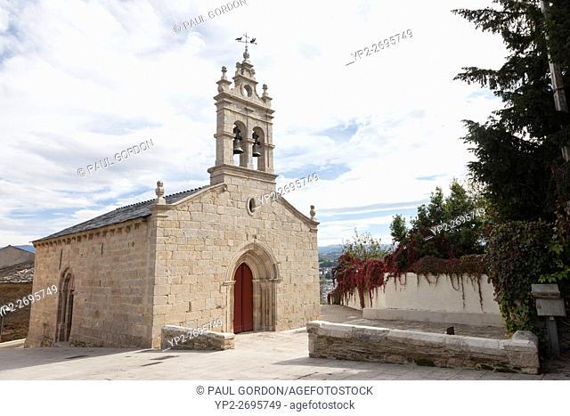 Galicia, Spain: Iglesia San Salvador. The 13th century early Gothic church along Rúa Maior on the Camino Francés is also known as O Salvador