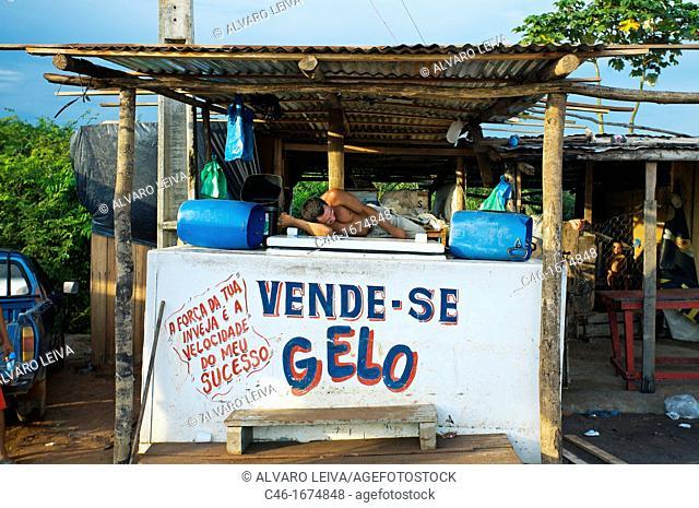 Ice shop, Manaus  Rio Negro Black River, Amazonas state, the Amazon, Brazil