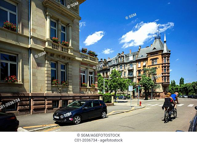 Residential buildings 19th Century Strasbourg Alsace France