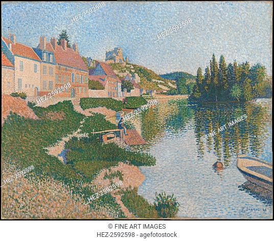 Les Andelys. The Riverbank, 1886. Found in the collection of the Musée d'Orsay, Paris
