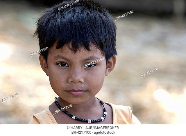 Local girl with necklace, portrait, Ngapali, Thandwe, Rakhine State, Myanmar