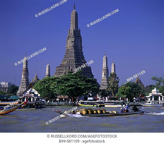 Wat Arun, Temple Of The Dawn, Mae Nam Chao Phraya River, Bangkok, Thailand