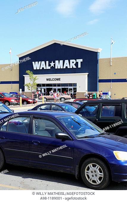 entrance of WAL-MART store in Nova Scotia, Canada, North America