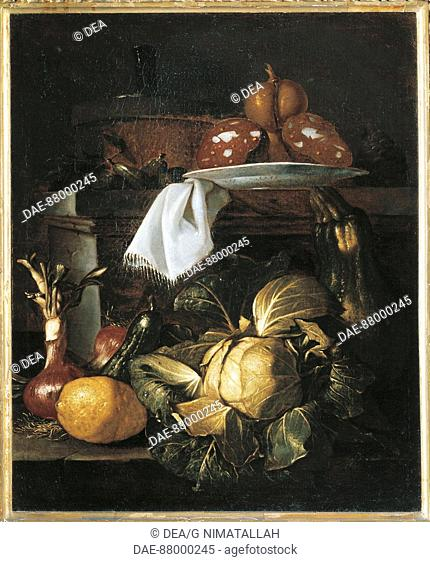 Giuseppe Ruoppolo (ca. 1639-1710), Kitchen Still Life.  Florence, Museo Bardini (Art And Arts And Crafts Museum)