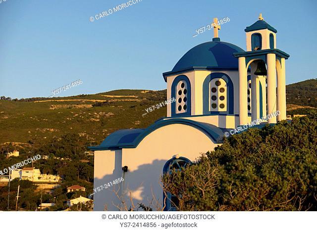 Analipsi Church, Gialiskari beach, Ikaria island, North Aegean islands, Greece, Europe