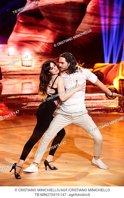 Manuela Arcuri during the performance at the tv show Ballando con le stelle (Dancing with the stars) Rome, ITALY-27-04-2019