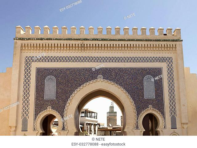 Gate of old medina in Fez, Morocco, Africa