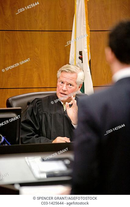 A real judge responds to a student's argument at the law school of the University of California at Irvine moot court -- a prestigious extracurricular activity...