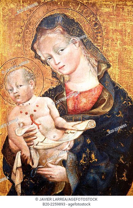 La Vierge et l'Enfant. Giovanni da Modena. Louvre Museum. Paris. France
