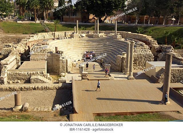 Roman amphitheatre, Alexandria, Egypt, Africa