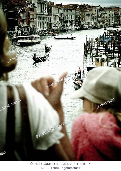 Grand Canal seen from Rialto Bridge, Venice, Veneto, Italy