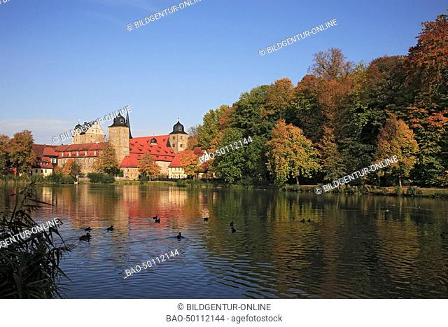 Castle and palais of Thurnau near Kulmbach, Upper Frankonia, Bavaria, Germany