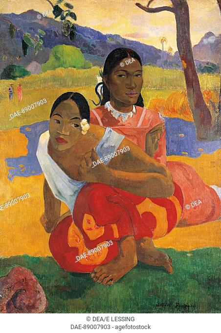 Paul Gauguin (1848-1903), Nafea Faa Ipoipo (When are you getting married?), 1892. Oil on canvas, cm.105x77,5  Private Collection