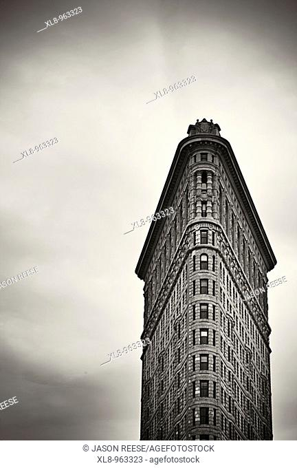 The Flat Iron building facade in Manhattan, New York, New York, USA
