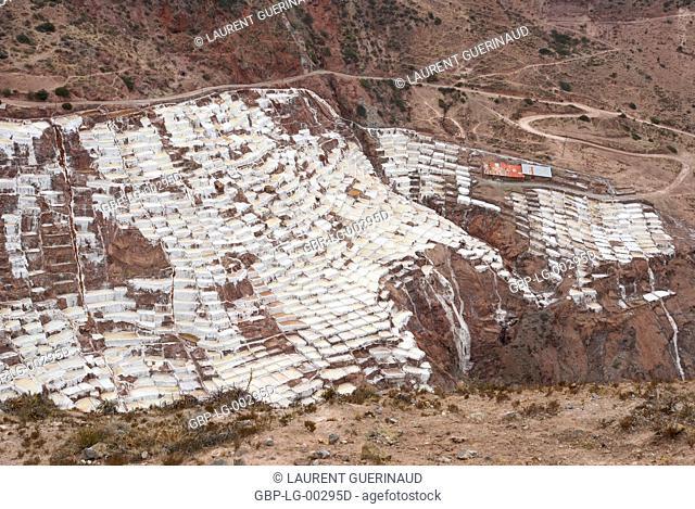 Salineras de Maras, Worth Sacred of Los Incas, Region of Cusco, Lima, Peru