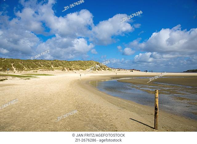 beach and dunes at Slufter at Texel