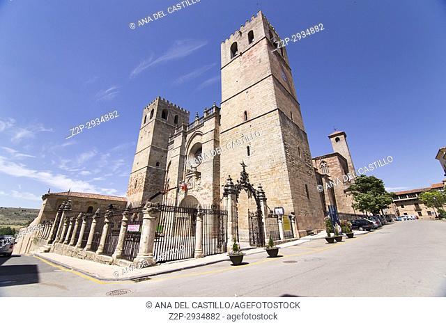 Cathedral in Siguenza is a medieval village in Guadalajara Castile La Mancha Spain