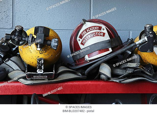Fireman Helmets and Gear