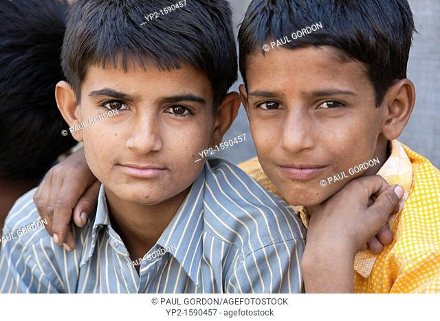 Two boys - Shyampura Village, Rajasthan, India