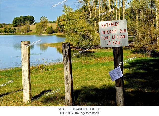 Lac des Graussettes, Lot-et-Garonne Department, Aquitaine, France