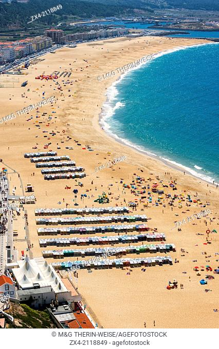 Nazare beach, Estremadura and Ribatejo, Portugal